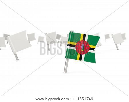 Square Pin With Flag Of Dominica