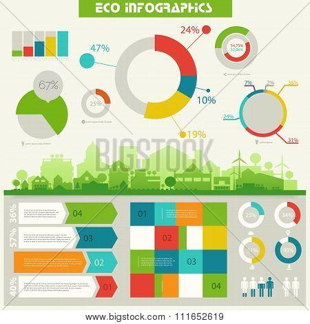 Eco town infographics