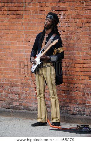 Imitador de Jimi Hendrix