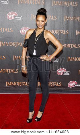 LOS ANGELES, CALIFORNIA - November 7, 2011. Samantha Mumba at the World premiere of