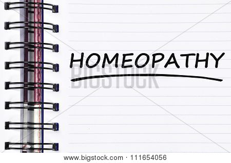 Homeopathy Words On Spring Note Book