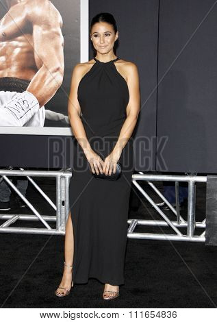 Emmanuelle Chriqui at the Los Angeles premiere of 'Creed' held at the Regency Village Theatre in Westwood, USA on November 19, 2015.