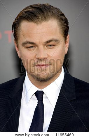 Leonardo DiCaprio at the Los Angeles Premiere of