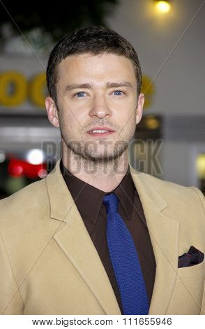 WESTWOOD, CALIFORNIA - October 20, 2011. Justin Timberlake at the Los Angeles premiere of