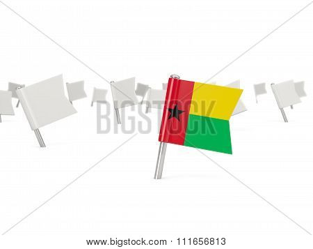 Square Pin With Flag Of Guinea Bissau