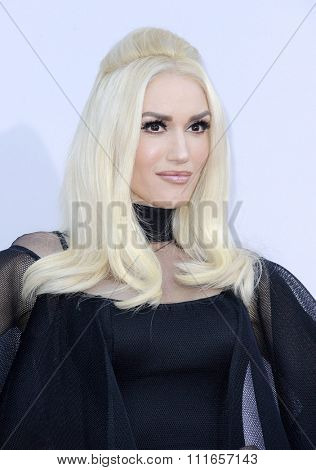 Gwen Stefani at the 2015 American Music Awards held at the Microsoft Theater in Los Angeles, USA on November 22, 2015.
