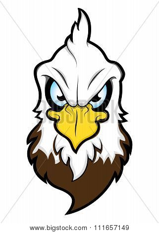 Vector Bald Eagle Head Mascot Illustration isolated on white background