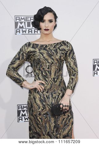 Demi Lovato at the 2015 American Music Awards held at the Microsoft Theater in Los Angeles, USA on November 22, 2015.
