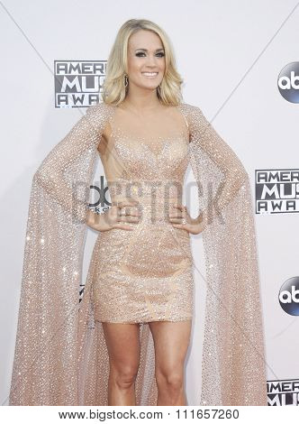 Carrie Underwood at the 2015 American Music Awards held at the Microsoft Theater in Los Angeles, USA on November 22, 2015.