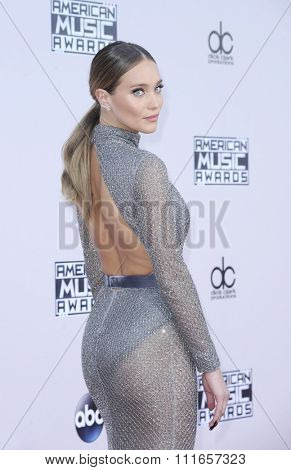Hannah Davis at the 2015 American Music Awards held at the Microsoft Theater in Los Angeles, USA on November 22, 2015.