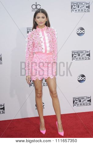 Zendaya at the 2015 American Music Awards held at the Microsoft Theater in Los Angeles, USA on November 22, 2015.