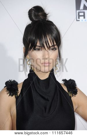 Kendall Jenner at the 2015 American Music Awards held at the Microsoft Theater in Los Angeles, USA on November 22, 2015.