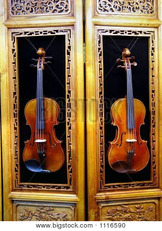 Violin And Old Furniture