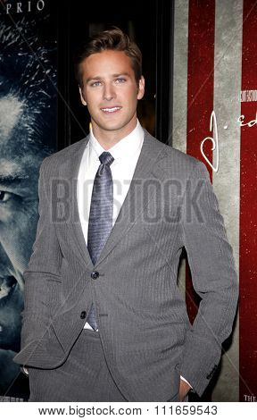 HOLLYWOOD, CALIFORNIA - November 3, 2011. Armie Hammer at the AFI Fest 2011 Opening Night Gala World Premiere Of