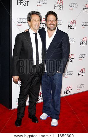 HOLLYWOOD, CALIFORNIA - November 3, 2011. Brian Grazer and Brett Ratner at the AFI Fest 2011 Opening Night Gala World Premiere Of