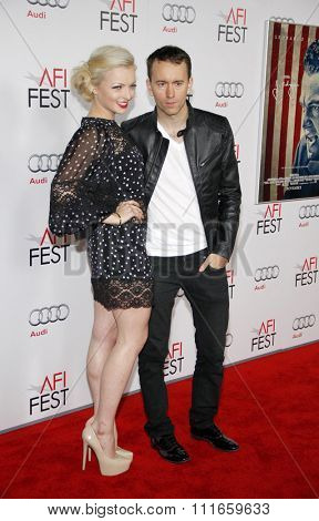 HOLLYWOOD, CALIFORNIA - November 3, 2011. Francesca Eastwood and Tyler Shields at the AFI Fest 2011 Opening Night Gala World Premiere Of