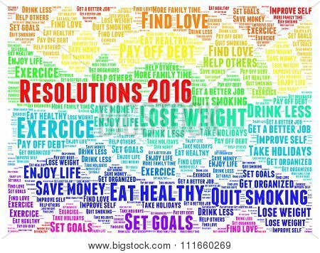 Resolutions 2016 word cloud
