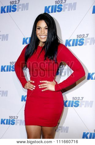 Jordin Sparks at the KIIS FM's 2012 Jingle Ball held at the Nokia Theatre L.A. Live in Los Angeles, USA on December 3, 2012.