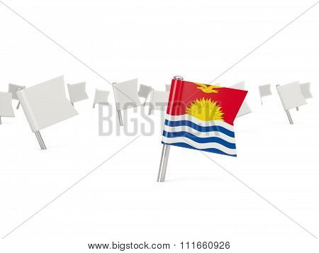 Square Pin With Flag Of Kiribati