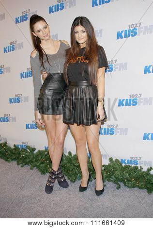 Kendall Jenner and Kylie Jenner at the KIIS FM's 2012 Jingle Ball held at the Nokia Theatre L.A. Live in Los Angeles, USA on December 3, 2012.