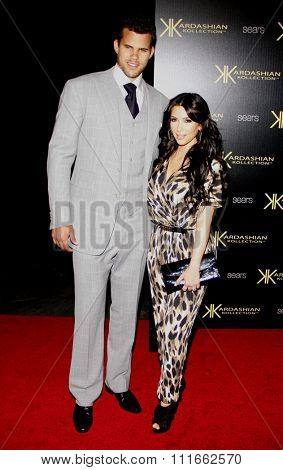 Kris Humphries and Kim Kardashian at the Kardashian Kollection Launch Party held at the Colony in Los Angeles, California, United States on August 17, 2011.