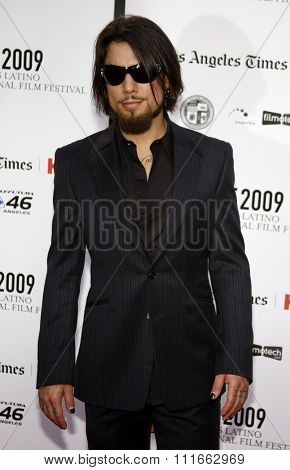 Dave Navarro at the 13th Annual LALIFF Opening Night & Gabi Lifetime Achievement Award Gala held at the Grauman's Chinese Theater in Hollywood, USA on October 11, 2009.