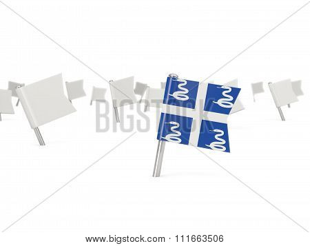 Square Pin With Flag Of Martinique