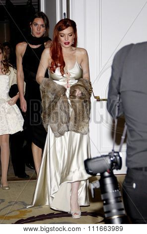 LOS ANGELES, CALIFORNIA - November 20, 2012. Lindsay Lohan at the Los Angeles premiere of 'Liz & Dick' held at the Beverly Hills Hotel in Los Angeles.