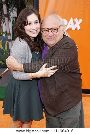 HOLLYWOOD, CALIFORNIA - February 19, 2012. Danny DeVito at the Los Angeles premiere of