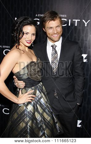 Katrina Law and Liam McIntyre at the Los Angeles Premiere of Starz Series
