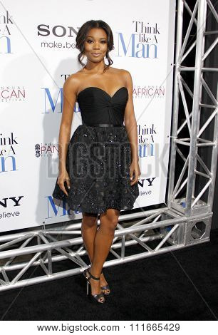 HOLLYWOOD, CALIFORNIA - February 9, 2012. Gabrielle Union at the Los Angeles premiere of