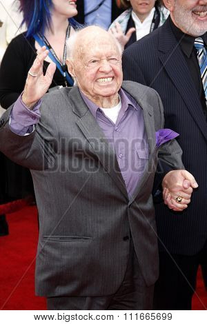 Mickey Rooney at the 2012 TCM Classic Film Festival Opening Night Gala held at the Grauman's Chinese Theater, California, United States on April 12, 2012.