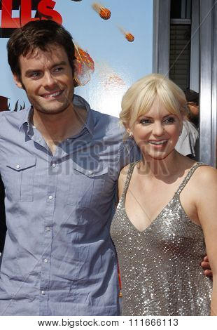Bill Hader and Anna Faris at the Los Angeles Premiere of