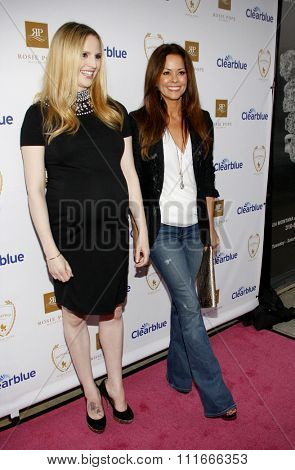 Brooke Burke and Rosie Pope at the Rosie Pope Maternity Store Opening held at the Rosie Pope Maternity, California, United States on March 29, 2012.