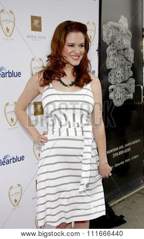 Sarah Drew at the Rosie Pope Maternity Store Opening held at the Rosie Pope Maternity, California, United States on March 29, 2012.
