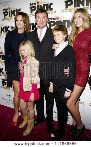 Wayne Gretzky and Paulina Greztky at the Mr. Pink Ginseng Drink Launch Party held at the Regent Beverly Wilshire Hotel in Los Angeles, United States on October 11, 2012.