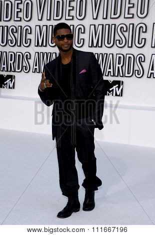 Usher at the 2010 MTV Video Music Awards held at the Nokia Theatre L.A. Live in Los Angeles, USA on September 12, 2010.