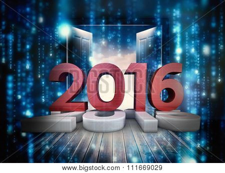 2016 graphic against composite image of doors opening to reveal beautiful sky