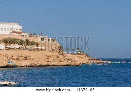 Rocky beach in Egypt.