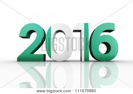 2016 graphic against nigeria national flag