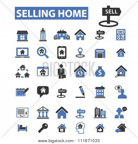real estate, agent, agency, buildings  icons, signs vector set for infographics, mobile, website, application