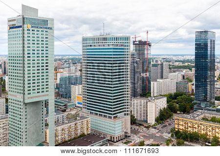 Warsaw. View from above.