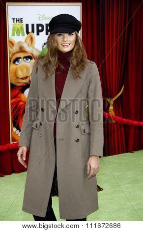 HOLLYWOOD, CALIFORNIA - November 12, 2011. Shana Katic at the World premiere of