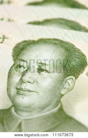 Yuan banknotes background.
