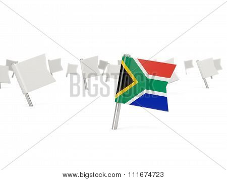 Square Pin With Flag Of South Africa