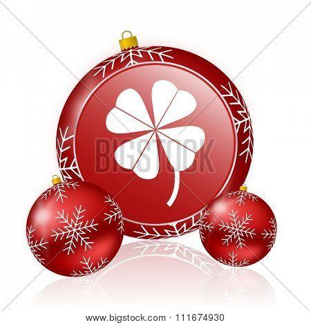 four-leaf clover christmas icon