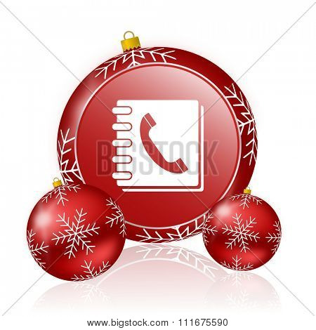 phonebook christmas icon