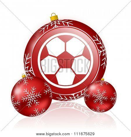 soccer christmas icon