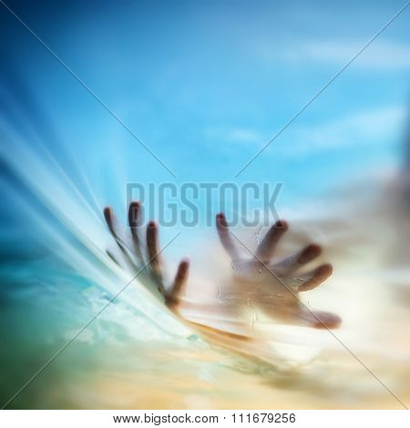 Hands - Conceptual cries for help, depression, stress, panic