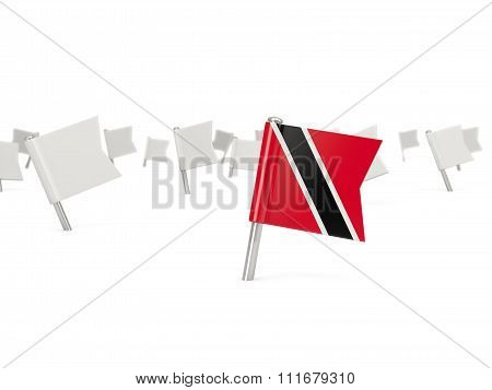 Square Pin With Flag Of Trinidad And Tobago
